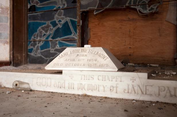 Belmont Chapel dedication detail