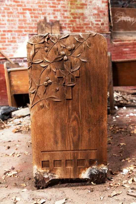 Belmont Chapel Pew Detail