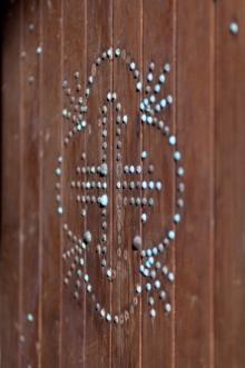 Belmont Chapel interior door detail