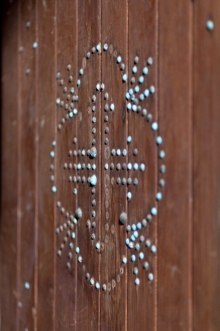Belmont Chapel interior door detail