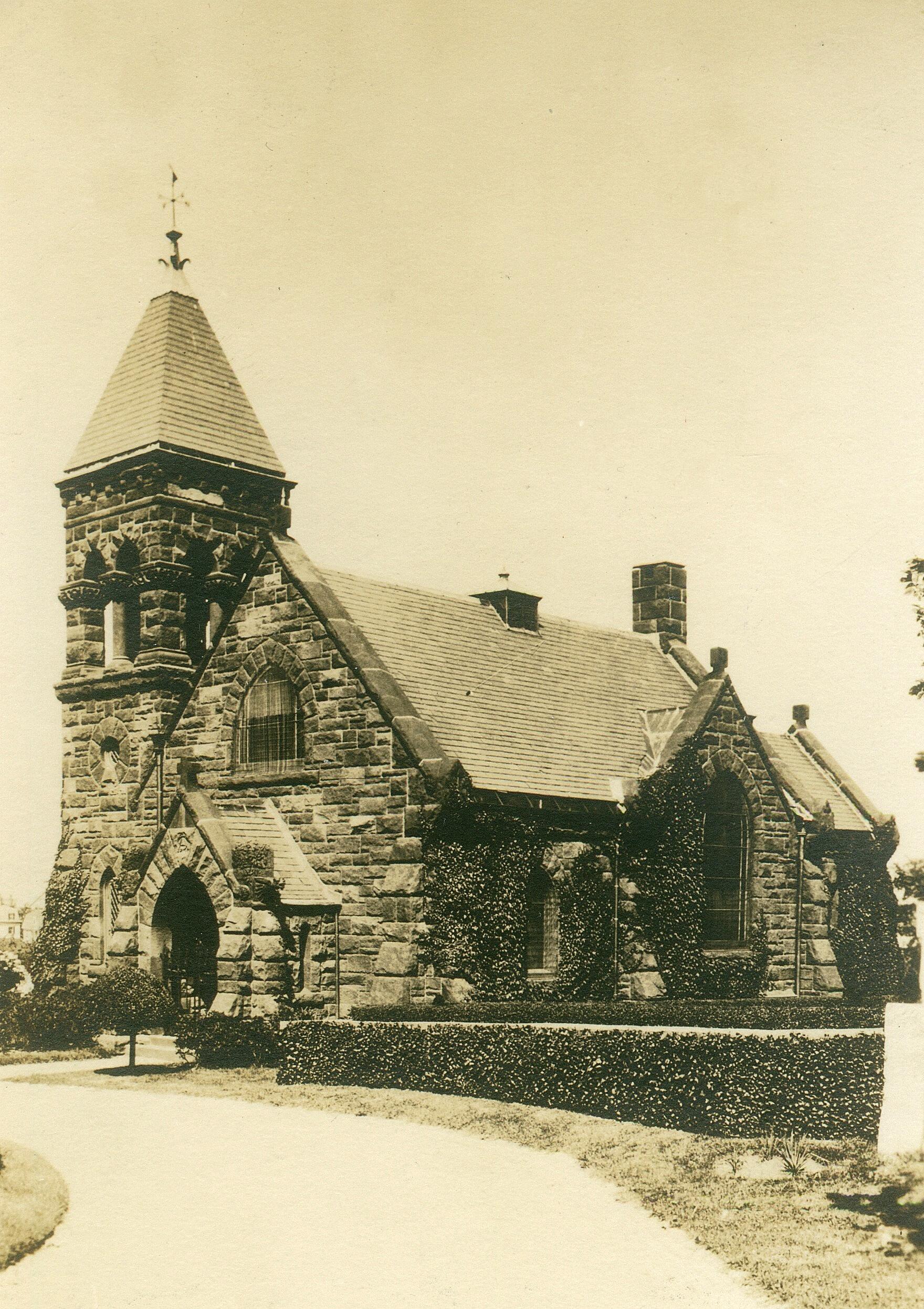 Belmont Chapel Antique Postcard